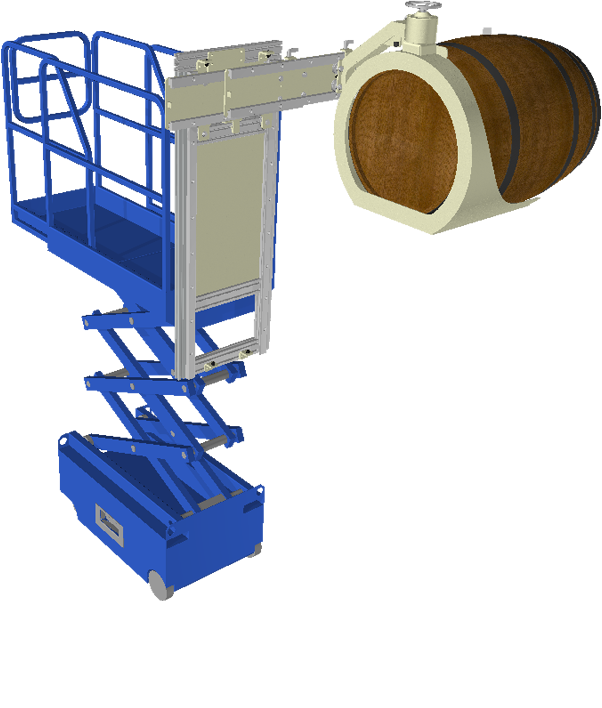 Autolift Scissor-lift with basket